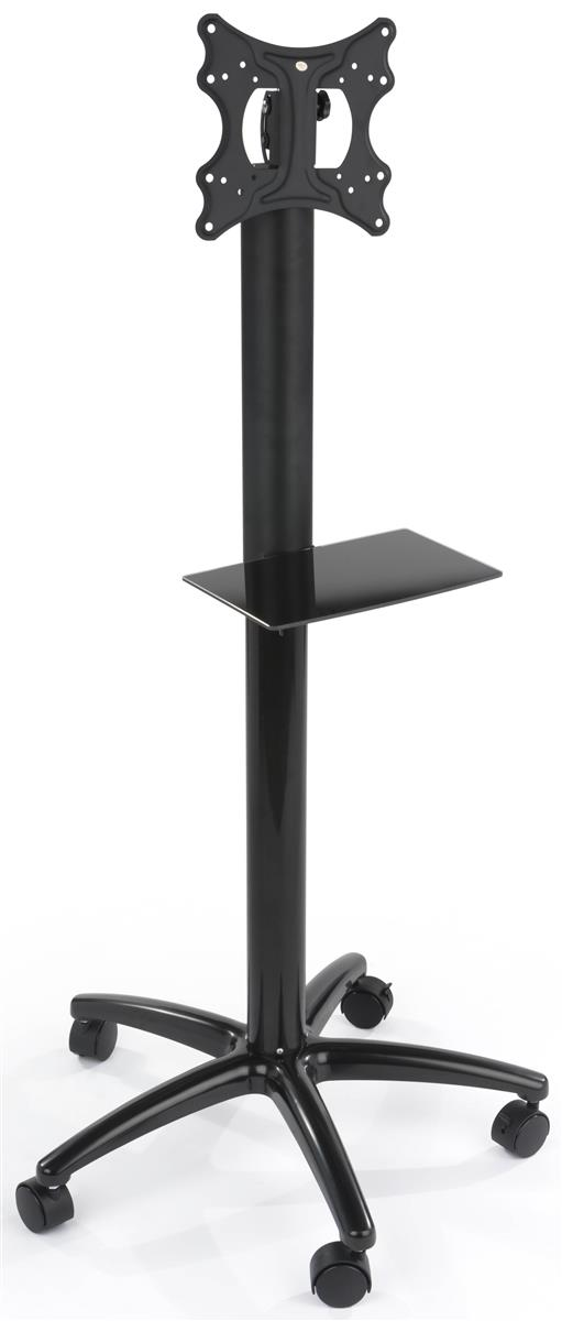 Single Pole Tv Stand Height Adjustable With Locking Casters