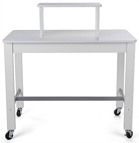 2-tier white nesting display table for clothing