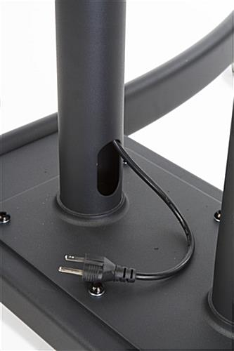 Dual Monitor Stand with Hidden Power Cord