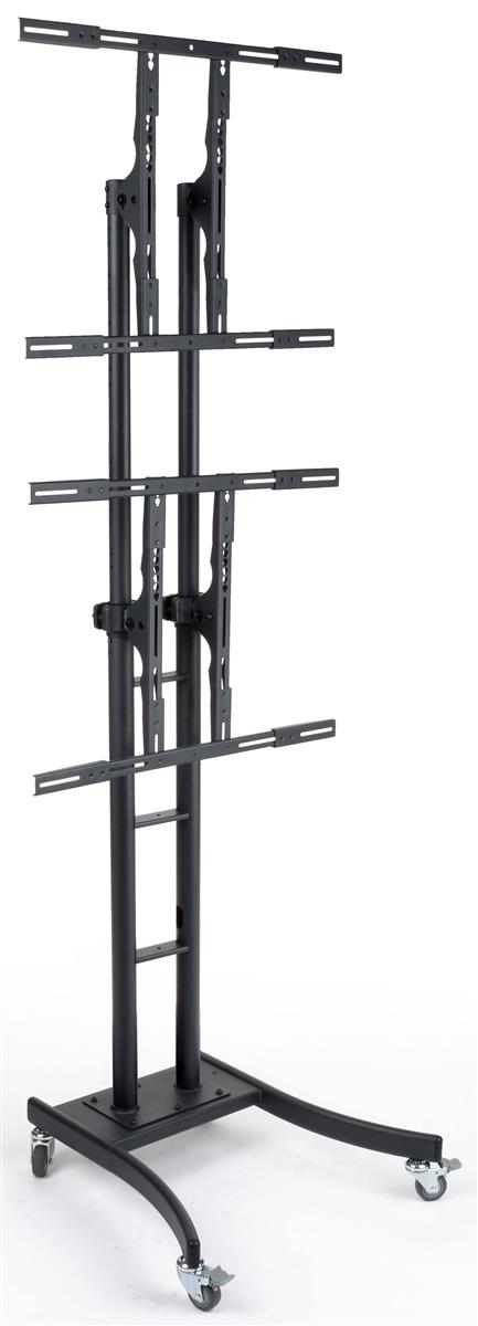 """Displays2go TV Stand with 2 Mounts for Monitors 32"""" to 65..."""