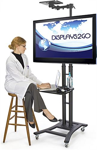 Black Teleconference TV Stand is Great for Offices