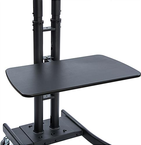 "Black Collapsible TV Stand with 28""W Shelf"