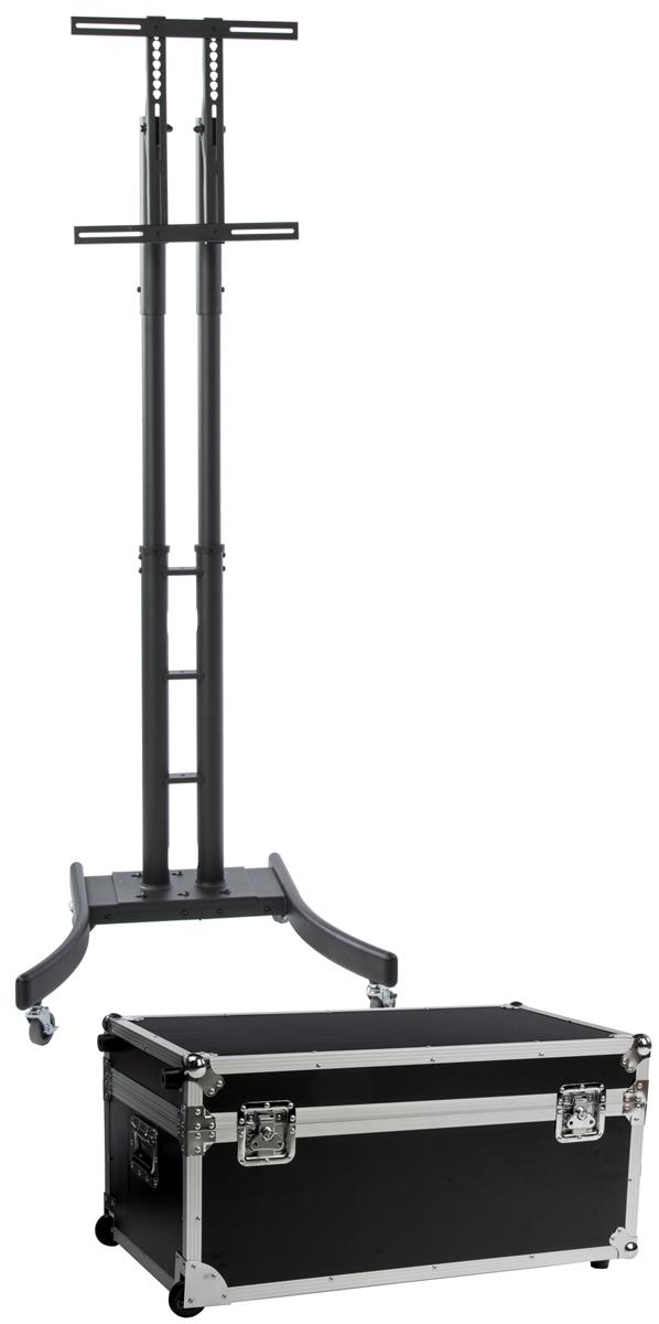 "Displays2go TV Stand w/ Wheels, Fits Monitors 32""-65"", Co..."