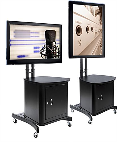 """TV Stand with Locking Cabinet 