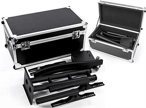 Black Portable TV Rack Includes Travel Case