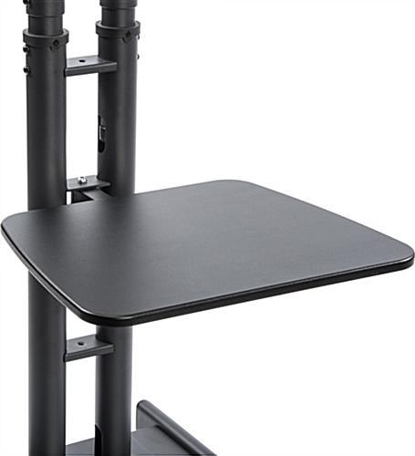 Portable 19 Quot Rack : Portable tv rack av shelf for media storage