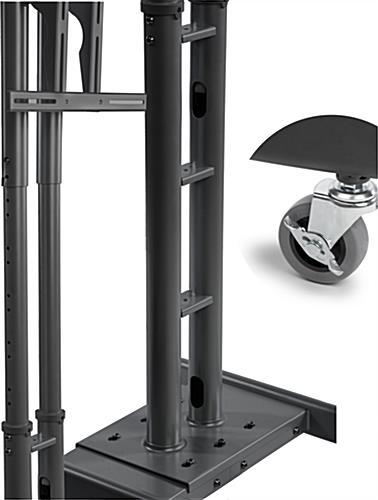 Portable Av Rack : Portable tv rack av shelf for media storage