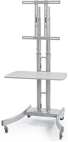 "Silver Collapsible TV Stand with 28""W Shelf"