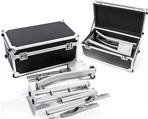 Silver Portable TV Rack Includes Travel Case