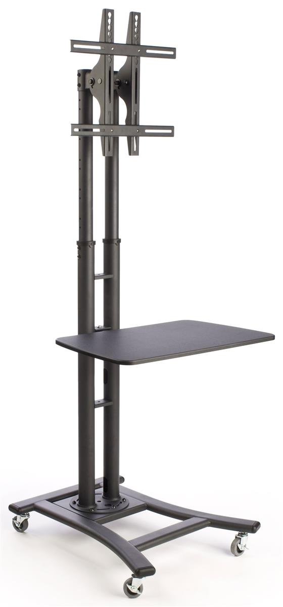 Lcd Tv Stands Black Monitor Mount With Shelf For