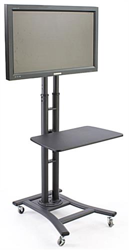 Plasma Tv Stand With Wheels Height Adjustable Floor Stand