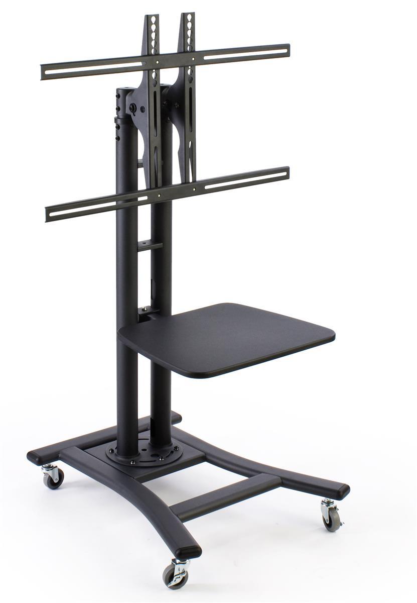Flat Panel Mobile Monitor Displays Height Adjustable With Shelf