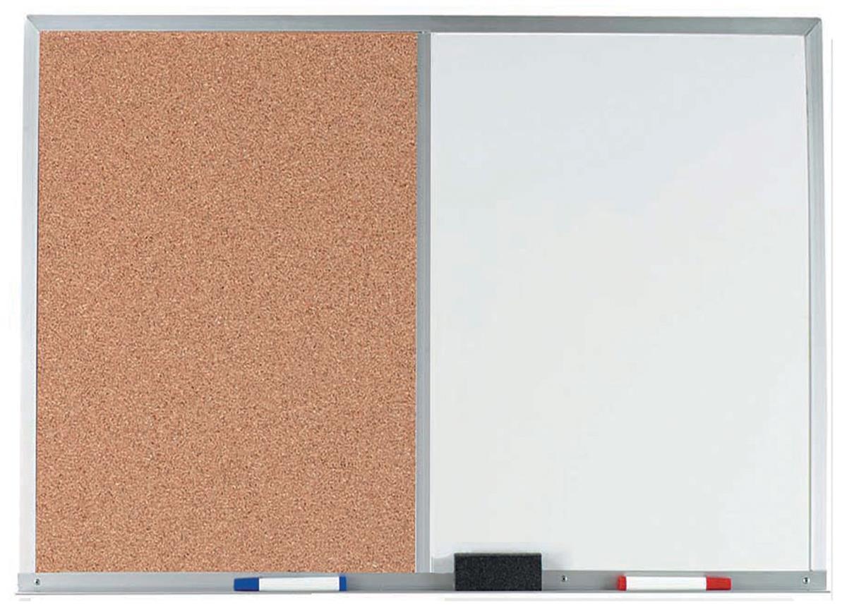 6 X 4 Dry Erase Amp Cork Combo Board Aluminum