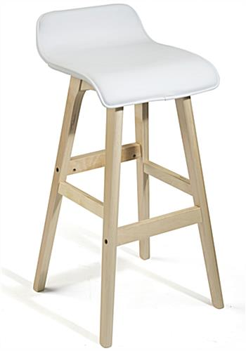 Modern Design Bar Stool with Wood Legs