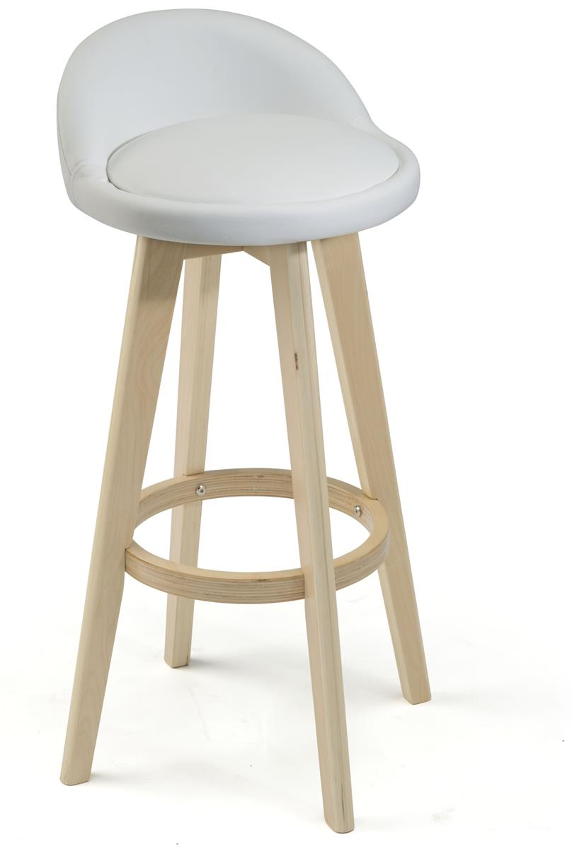 White Leather Barstool 28 Quot Tall Seat