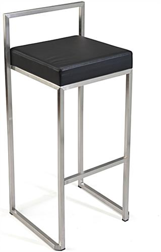 Metal Frame Stool with Square Design