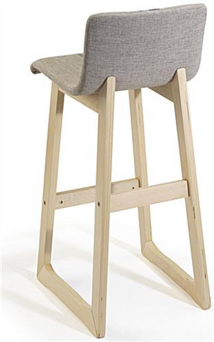 Fabric Barstool with Backrest
