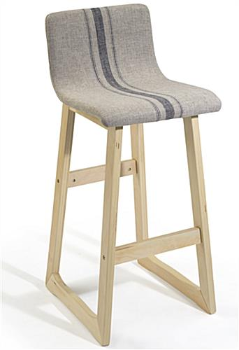 Fabric Barstool with Sturdy Frame