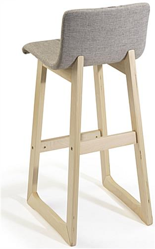 Chic Bar Stool with Wood Base