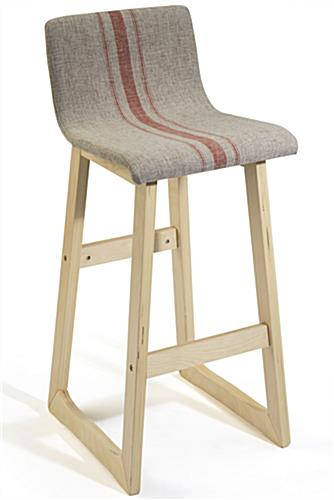 Chic Bar Stool with Tan Seat