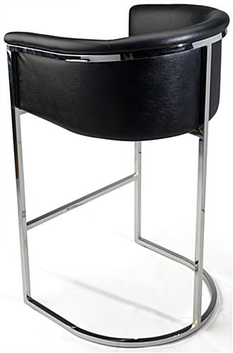 Bucket Barstool With Chrome Frame Bucket Barstool With Cushioned Seat ...