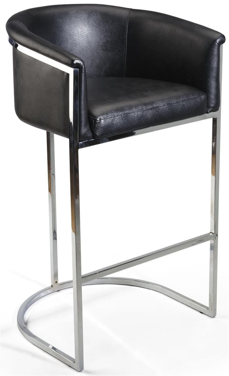 Bucket Barstool Faux Leather Seat
