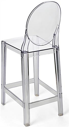 Clear Ghost Counter Stool with No Seams