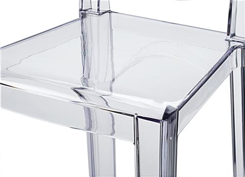 Clear Ghost Counter Stool with Frameless Design