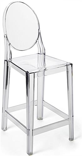 Clear Ghost Counter Stool with Infinity Edges