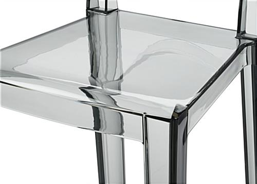 Smoke Ghost Counter Stool with Frameless Design