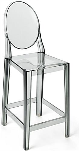 Smoke Ghost Counter Stool with Infinity Edges