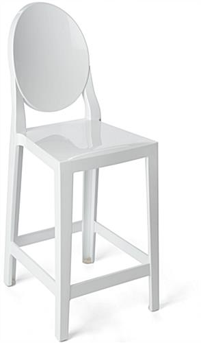 White Ghost Counter Stool with Infinity Edges