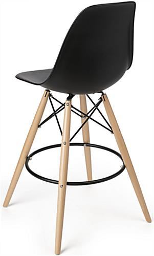 Molded Plastic Bar Stool with Backrest