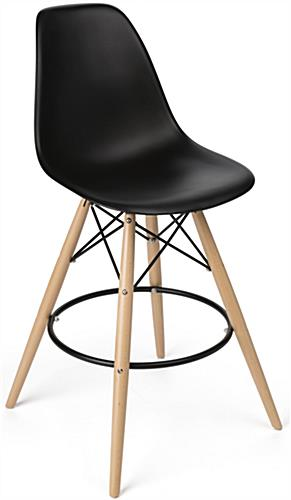 Molded Plastic Bar Stool with Metal Footrest