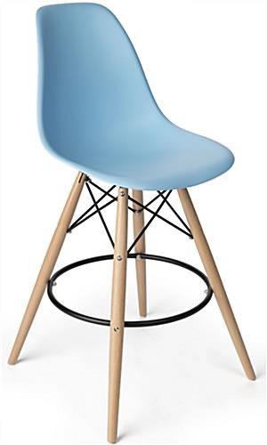 Eiffel Barstool with Metal Footrest