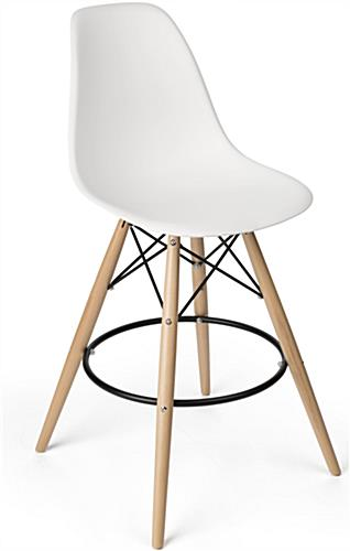 Eiffel Stool with Metal Footrest