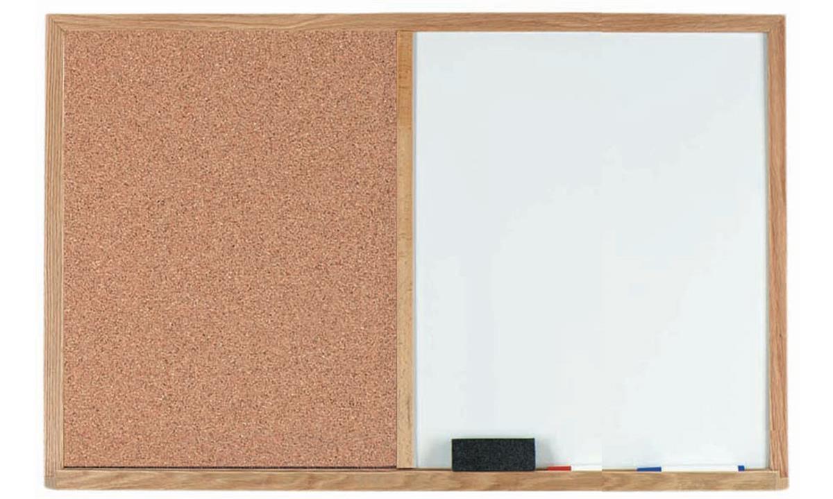 2 X 1 5 Whiteboard Amp Chalkboard Combo Oak