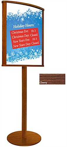 Double Sided Wood Poster Stand, Floor Standing Design