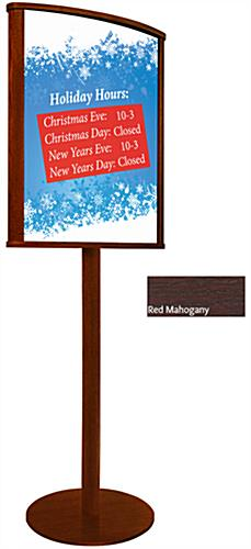 Mahogany 22 x 28 Wooden Sign Stand