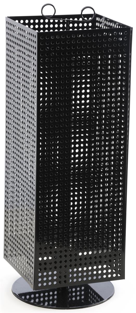 Black Pegboard Display Stand Includes Sign Holder