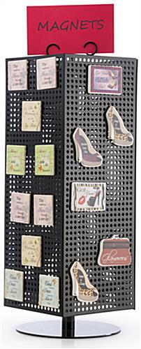 Countertop Pegboard Display with Chrome Hooks- Rotating