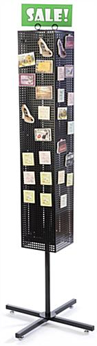 Black Pegboard Display Rack- Magnetic