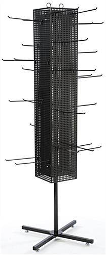 Black Pegboard Display Rack- Spinning