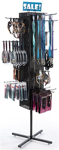 Black Pegboard Display Rack- Freestanding