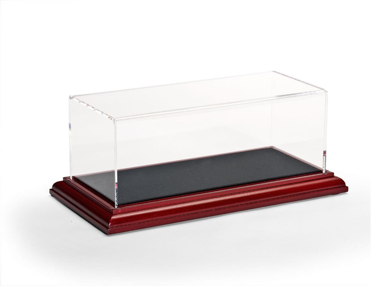 Model Display Case W Mdf Cherry Base Lift Off Acrylic Top