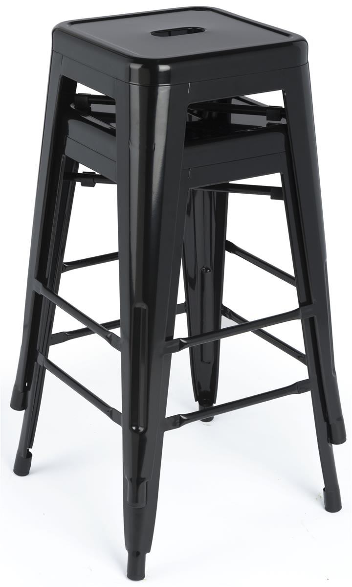 Remarkable Stacking Metal Stools Black Finish Gmtry Best Dining Table And Chair Ideas Images Gmtryco