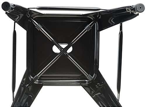 Stacking Metal Stools with Black Finish