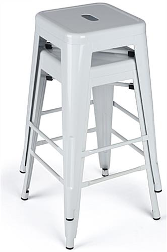 Modern Metal Stools Can Be Stacked