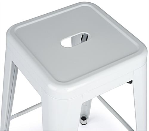 Modern Metal Stools with White Paint