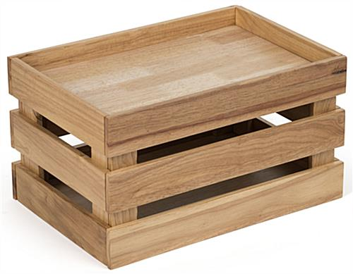 Wooden Produce Crate for Countertop